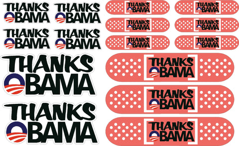 Thanks Obama Pack of Decals