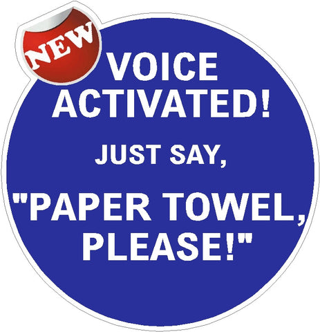 "Voice Activated ""PAPER TOWEL,  PLEASE!"" Troll Decals"