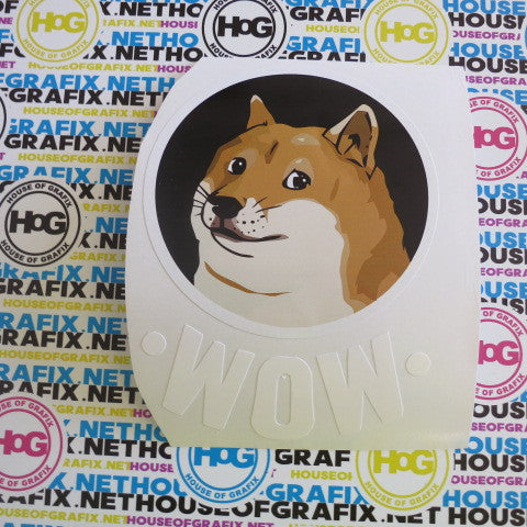 WOW Doge Decal