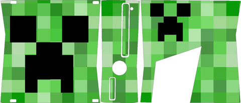 Xbox 360 Slim Minecraft Crepper Skin Wrap