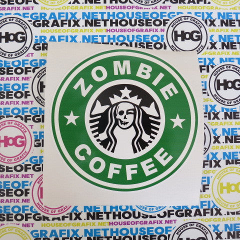 Zombie Coffee Decal