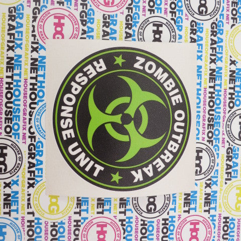 Zombie Response Team Decal Green