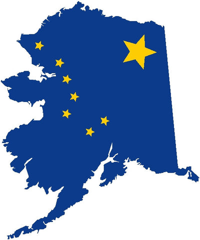 alaska state flag decal