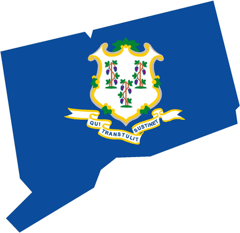 connecticut state flag decals