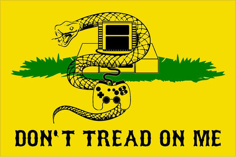 Dont Tread on me with snake video game decal