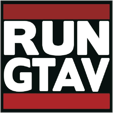 grand theft auto 5 GTA  RUN GTA logo Decal