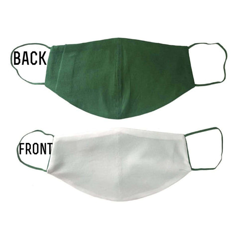 CUSTOM SUBLIMATION MASK with pocket for filter GREEN straps and backing