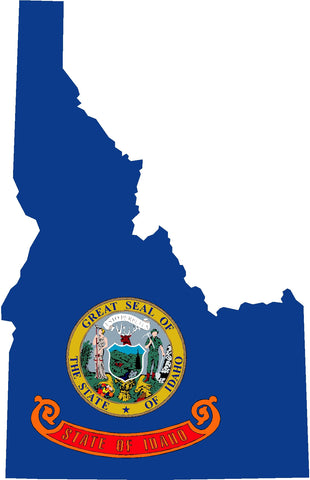 idaho state flag decal