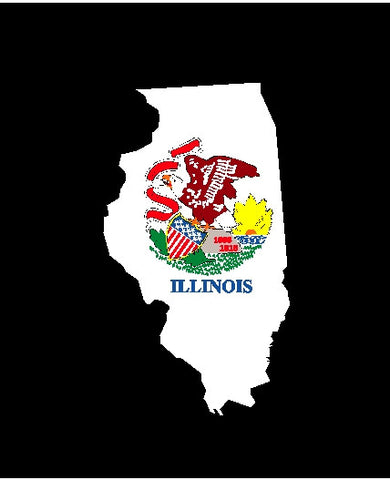illinois state flag decal