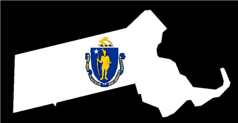 massachusetts state flag decal