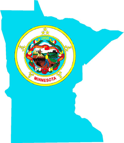 minnesota state flag decal