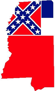 mississippi state flag decal