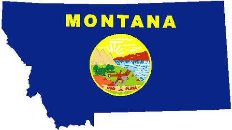 montana state flag decal