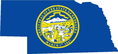 nebraska state flag decal