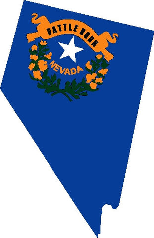 nevada state flag decal