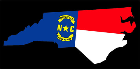 north carolina state flag decals