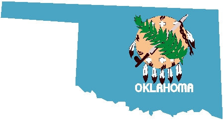 oklahoma state flag decal