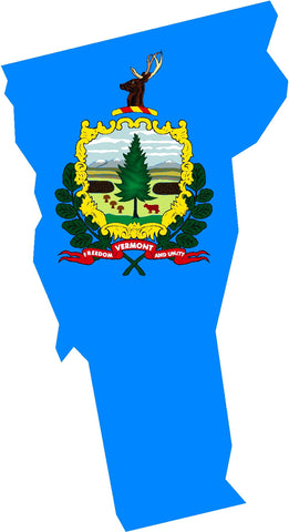 vermont state flag decal