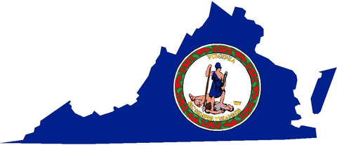 virginia state flag decal