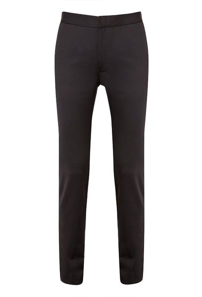 Amanda Tapered Wool Crop Pant in Charcoal Black for Tall Women by MARGE Clothing - Product Front