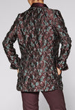 Elin Textured Jacquard Silk Jacket for Tall Women by MARGE Clothing - Back View Model