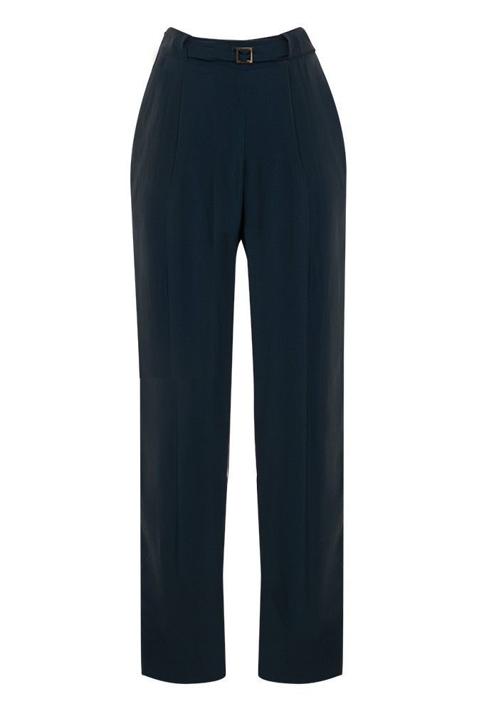 Luxe crepe blend wide leg pant for tall women.