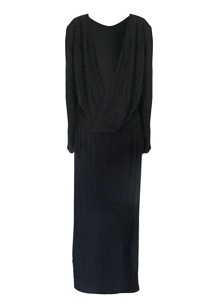 Jette Crepe Drape Gown for Tall Women