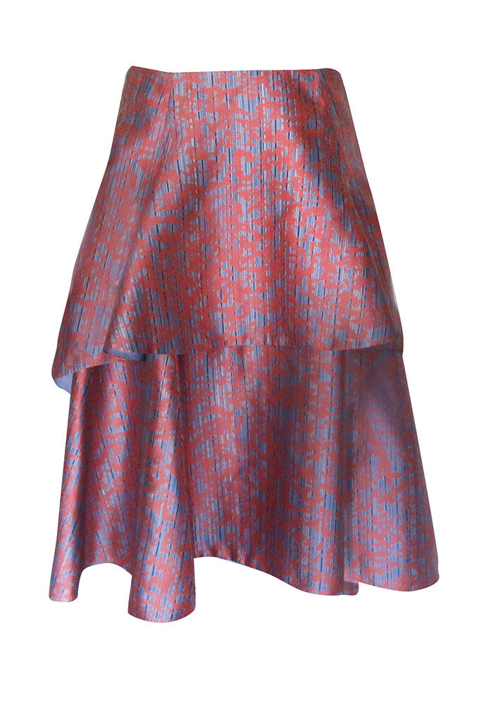 MARINA Custom Print Tiered Skirt for Tall Women