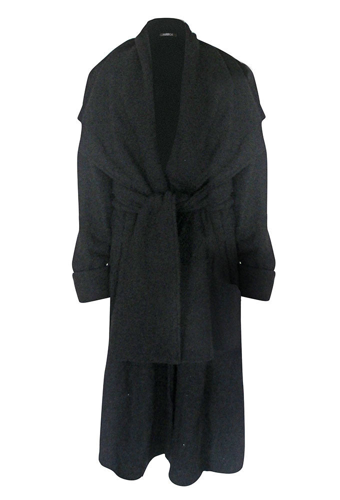 LISBET Long Wool Wrap Coat for Tall Women