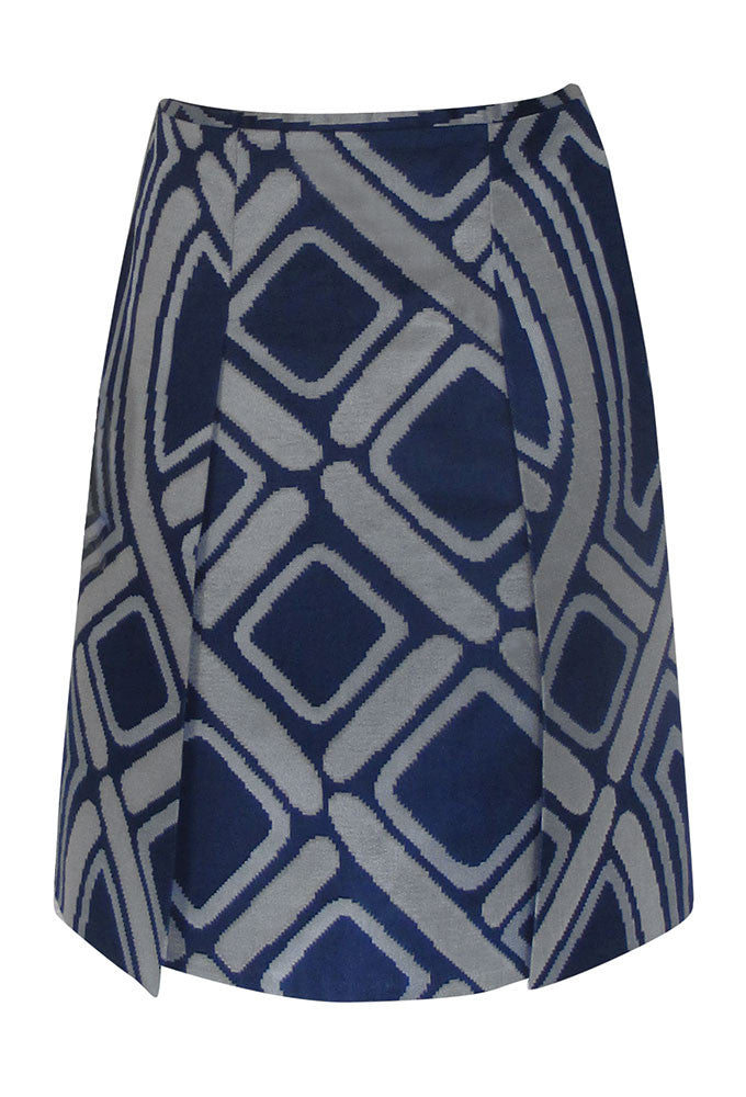 STELLA Jacquard Dual Slit Skirt for Tall Women