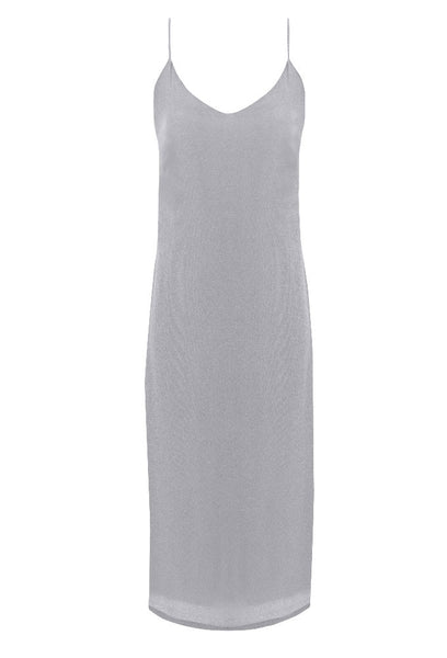 LIV - crepe and silk midi slip dress for tall women by Marge Clothing.