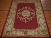 Load image into Gallery viewer, 5' X 8' Abusson Medallion Traditional Hand-knotted Red Rectangle Wool Rug - Direct Rug Import | Rugs in Chicago, Indiana,South Bend,Granger