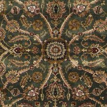 "Load image into Gallery viewer, 4'2""x6'2"" Decorative Green Hand Spun Wool Hand-Knotted Rug"