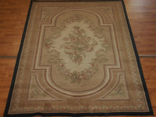Load image into Gallery viewer, 5' X 7'11'' Abusson Medallion Traditional Hand-knotted Tan Rectangle Wool Rug - Direct Rug Import | Rugs in Chicago, Indiana,South Bend,Granger