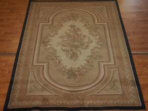 5' X 7'11'' Abusson Medallion Traditional Hand-knotted Tan Rectangle Wool Rug - Direct Rug Import | Rugs in Chicago, Indiana,South Bend,Granger