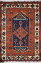 "Load image into Gallery viewer, 6'2""x9'1"" Traditional Orange Wool Hand-Knotted Rug - Direct Rug Import 
