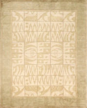 "Load image into Gallery viewer, 7'11""x9'11"" Decorative Tibetan Cream Wool Hand-Knotted Rug"