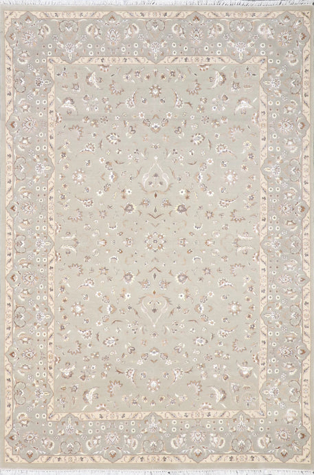 "5'4""x7'9"" Traditional Gray Wool Hand-Knotted Rug - Direct Rug Import 