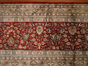 "Pure Silk Isfahan Rug (12'x17'9"") - Direct Rug Import 