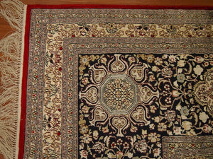 "Pure Silk Isfahan Rug (12'4""x18') - Direct Rug Import 