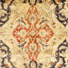 "Load image into Gallery viewer, 6'2""x9'2"" Traditional Tan Kerman Shah Wool Hand-Knotted Rug"
