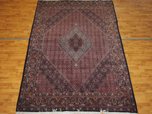 Load image into Gallery viewer, 6'11'' X 10'3'' Persian Beijar Medallion Semi-Antique Rust Rectangle Wool Rug