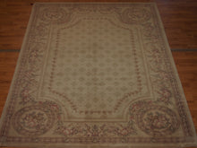 Load image into Gallery viewer, 6' X 8'2'' Abusson Tone-on-Tone Traditional Hand-knotted Tan,Pink Rectangle Wool Rug - Direct Rug Import | Rugs in Chicago, Indiana,South Bend,Granger