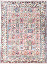 "Load image into Gallery viewer, 8'1""x10'8"" Traditional Ivory Wool & Silk Hand-finished Rug"