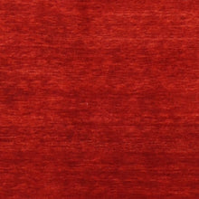 "Load image into Gallery viewer, 3'10""x5'10"" Contemporary Gabbeh Red Wool Hand-Knotted Rug"