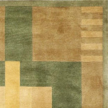 "Load image into Gallery viewer, 5'6""x8'6"" Contemporary Tan Wool Hand-Knotted Rug - Direct Rug Import 