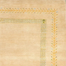 "Load image into Gallery viewer, 4'x5'10"" Decorative Gabbeh Tan Wool Hand-Knotted Rug"