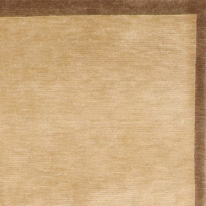 "5'1""x8' Contemporary Brown Tibetan Wool Hand-Knotted Rug"