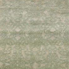"Load image into Gallery viewer, 6'x8'9"" Transitional Green Wool & Silk Hand-Knotted Rug - Direct Rug Import 