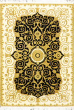 "Load image into Gallery viewer, 3'10""x5'10"" Classic Versace Black Wool Hand-Knotted Rugs"